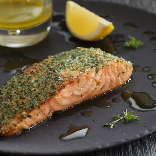 Dill and Pecan Salmon