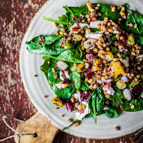 Greens & Grains with Orange dressing