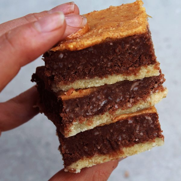 Choc Almond Slice