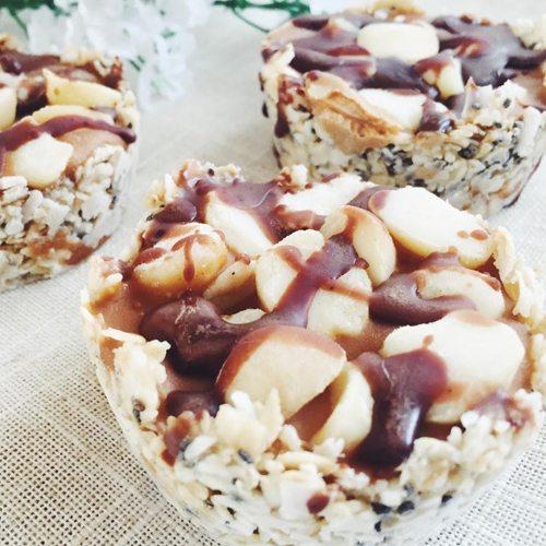 Vegan Caramel & Macadamia Tarts
