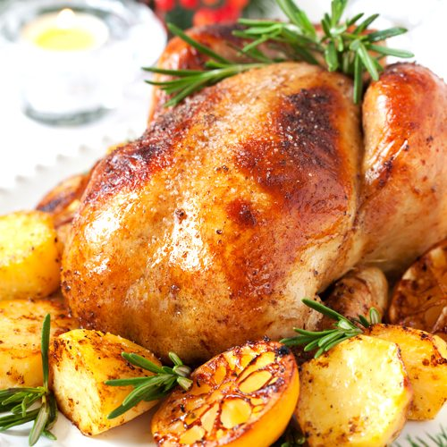 Roast Chicken with Chia Stuffing