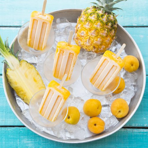 Pine Peach Homemade Popsicles