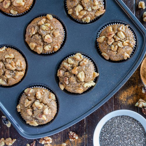 Paleo Apple Walnut Muffins