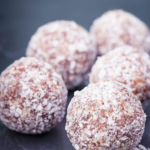 Coconut Choc Orange Date Balls