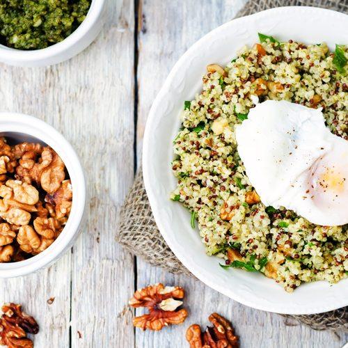 Quinoa Pesto bowls