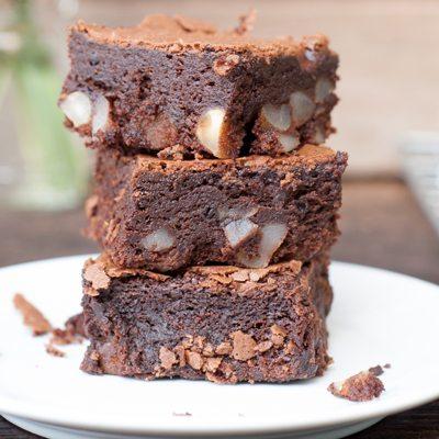 Kefir Choc Brownies with Macadamias