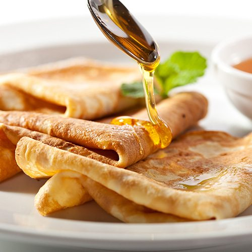 Thin Crêpes with Manuka Honey