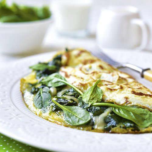 Baby Spinach Omelette
