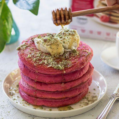 Red Velvet Beetroot Pancakes