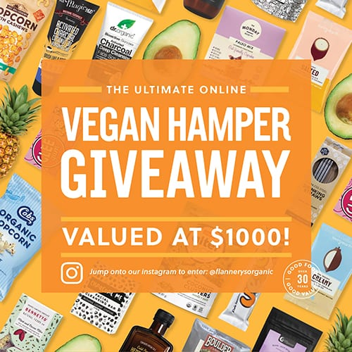 Win the Ultimate Vegan Hamper valued at $1000!