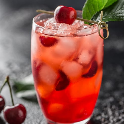 %%excerpt%% This gut nourishing Festive Cherry-Nectar Kombucha Mocktail is the perfect addition to everyones holiday season. It's super tasty!