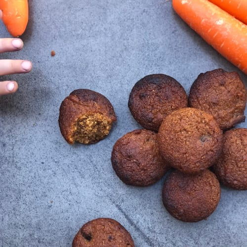 Nourishing Carrot Cake Mini Muffins