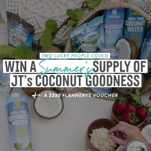 Win a summer's supply of JT's coconut goodness