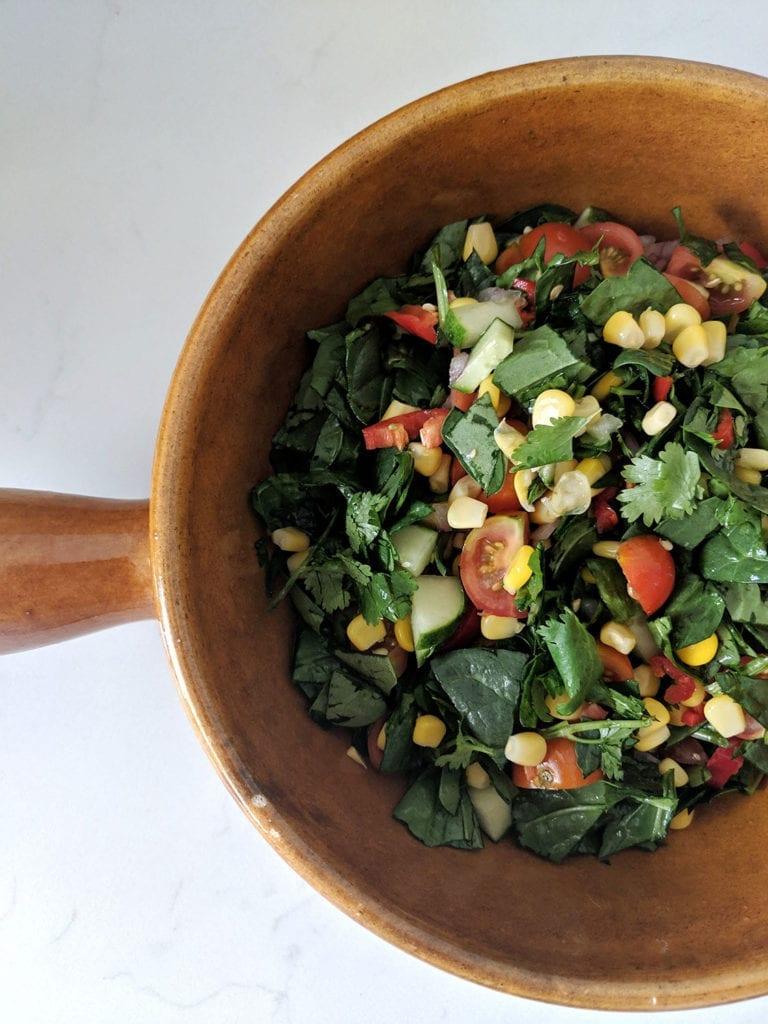 vegan nachos salad