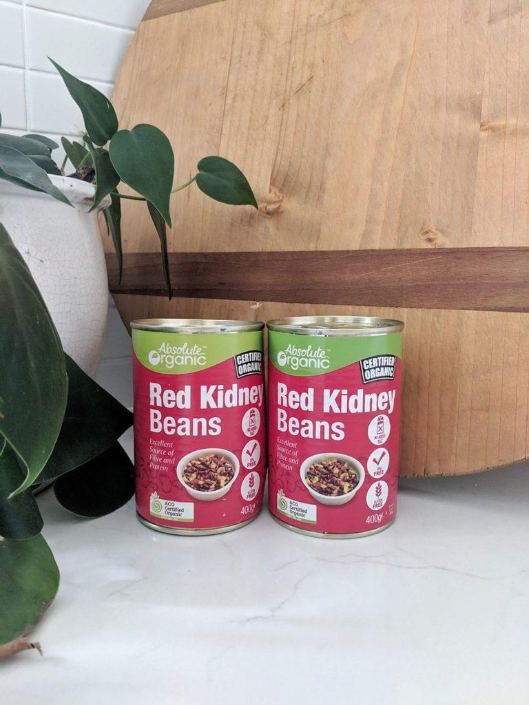 vegan nachos - beans