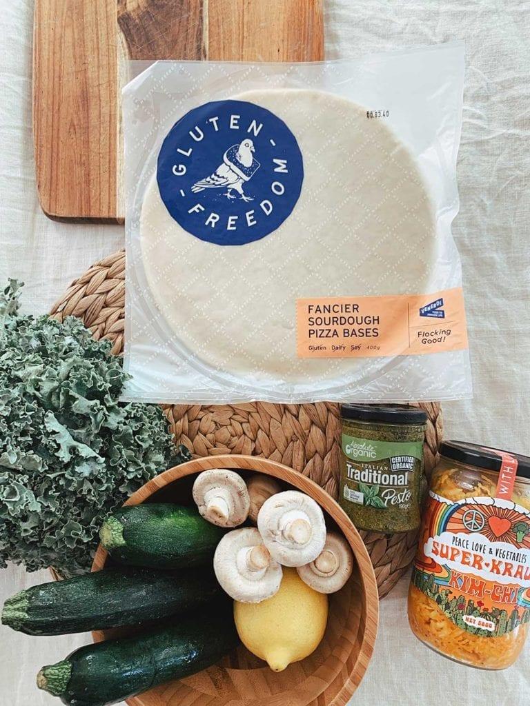 gluten free green pizza ingredients