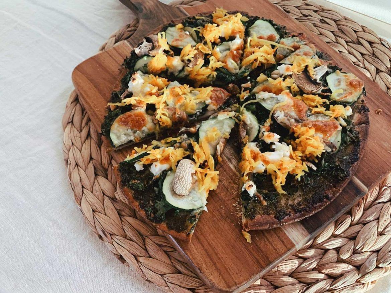 gluten free green pizza