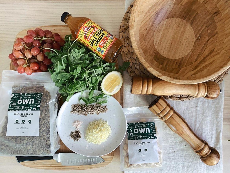 Macadamia Nut Salad ingredients
