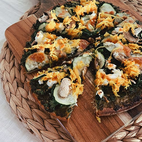 Gluten Free Green Pizza