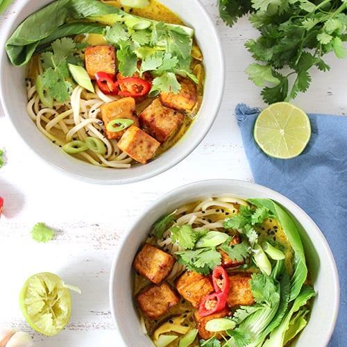 Immune-boosting Tofu Noodle Soup