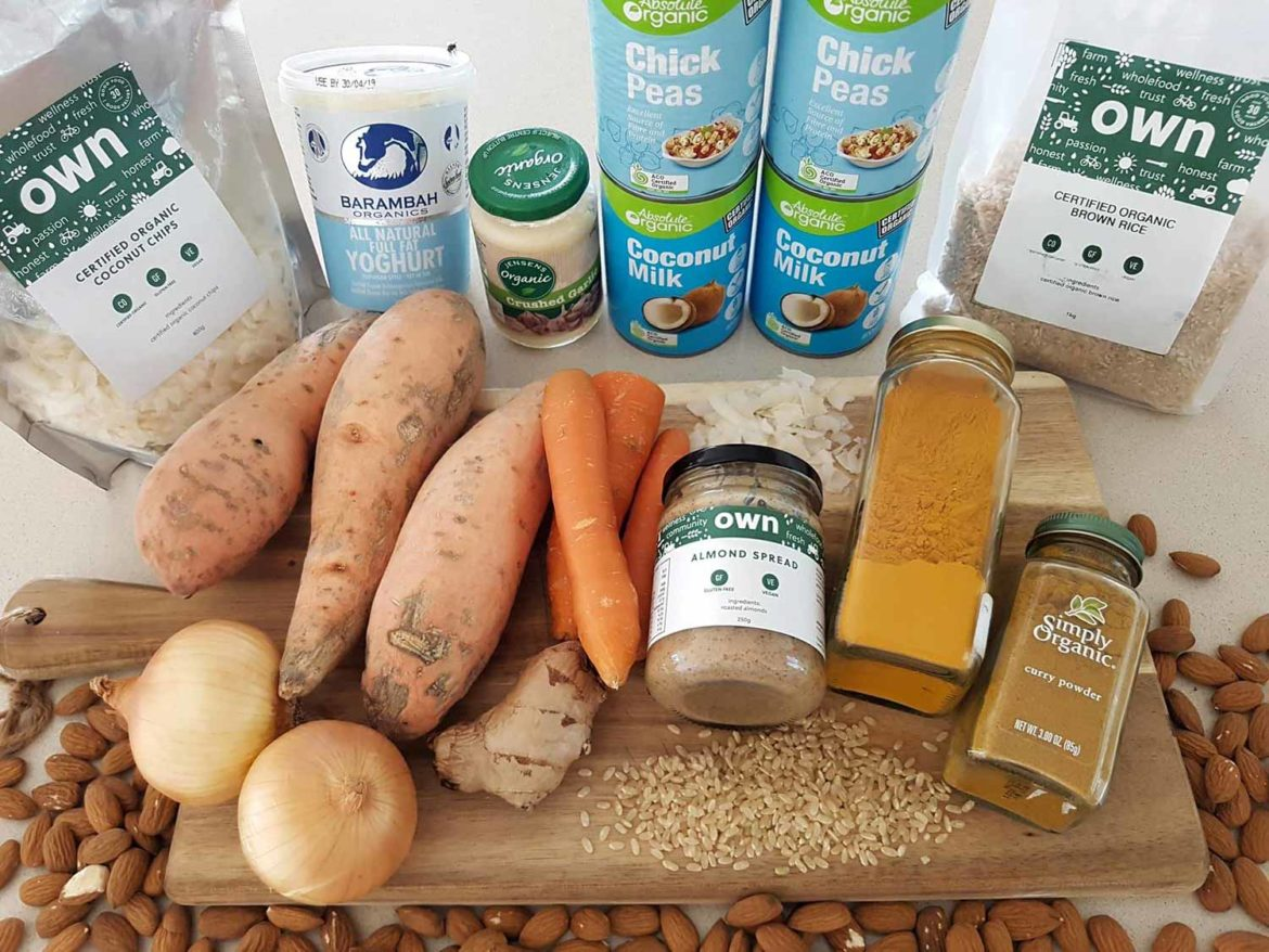 Almond Butter Curry ingredients
