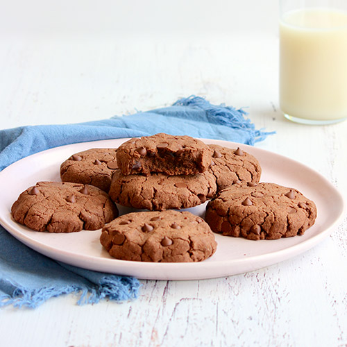Gluten-Free Vegan Double Choc-Chip Cookies