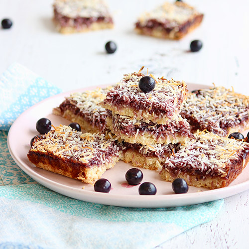 Blueberry & Coconut Slice