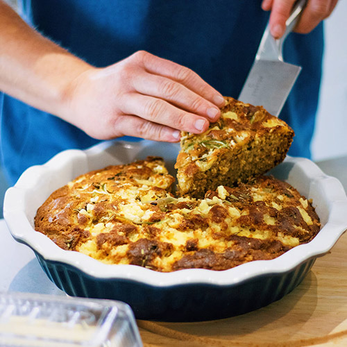 Onion, Rosemary & Feta Corn Bread