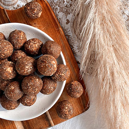 Almond Butter Cacao Energy Balls