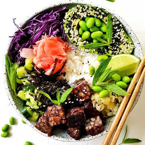 Plant Proof's Tempeh Poke Bowl