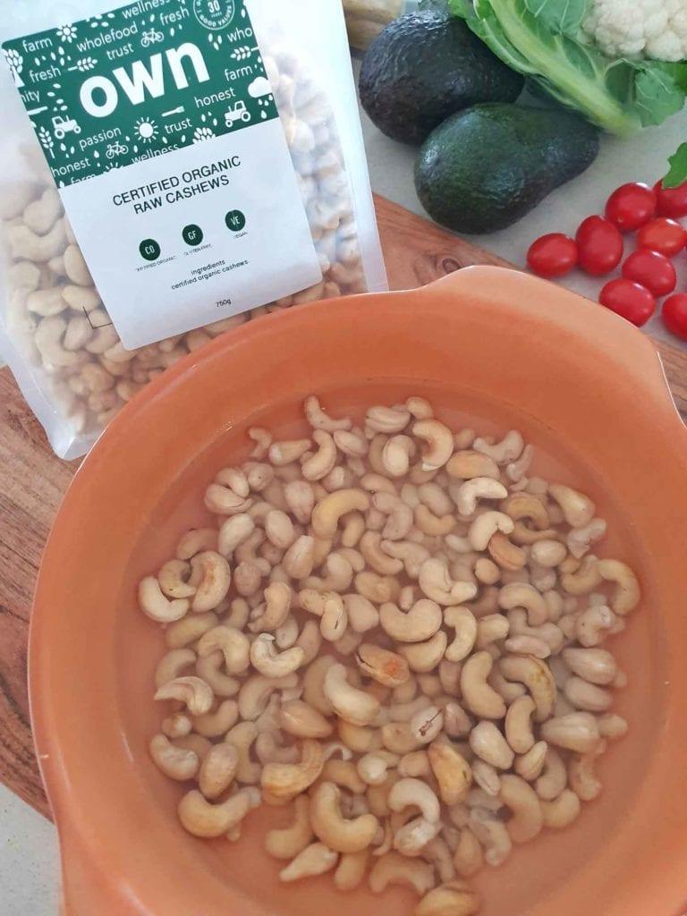 cashew pesto pasta bake