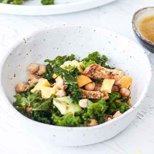 Mango, Almond and Kale Salad