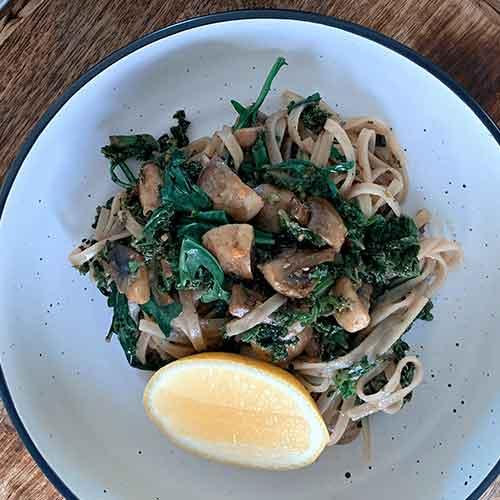 Kale and Mushroom Pasta