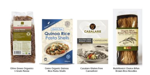 gluten free & rice pasta