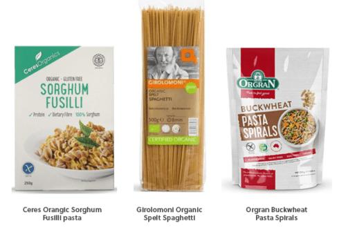 healthy pasta organic