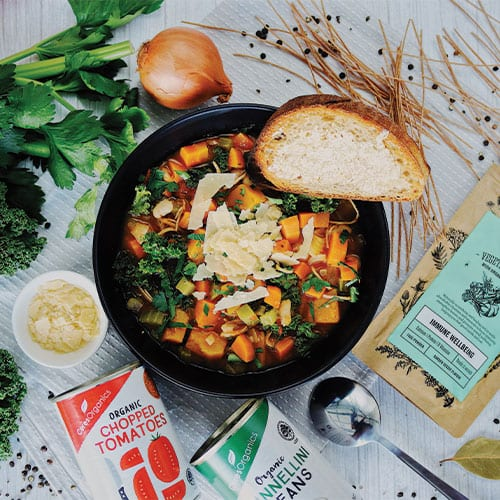 Warming Vegetable Minestrone Soup