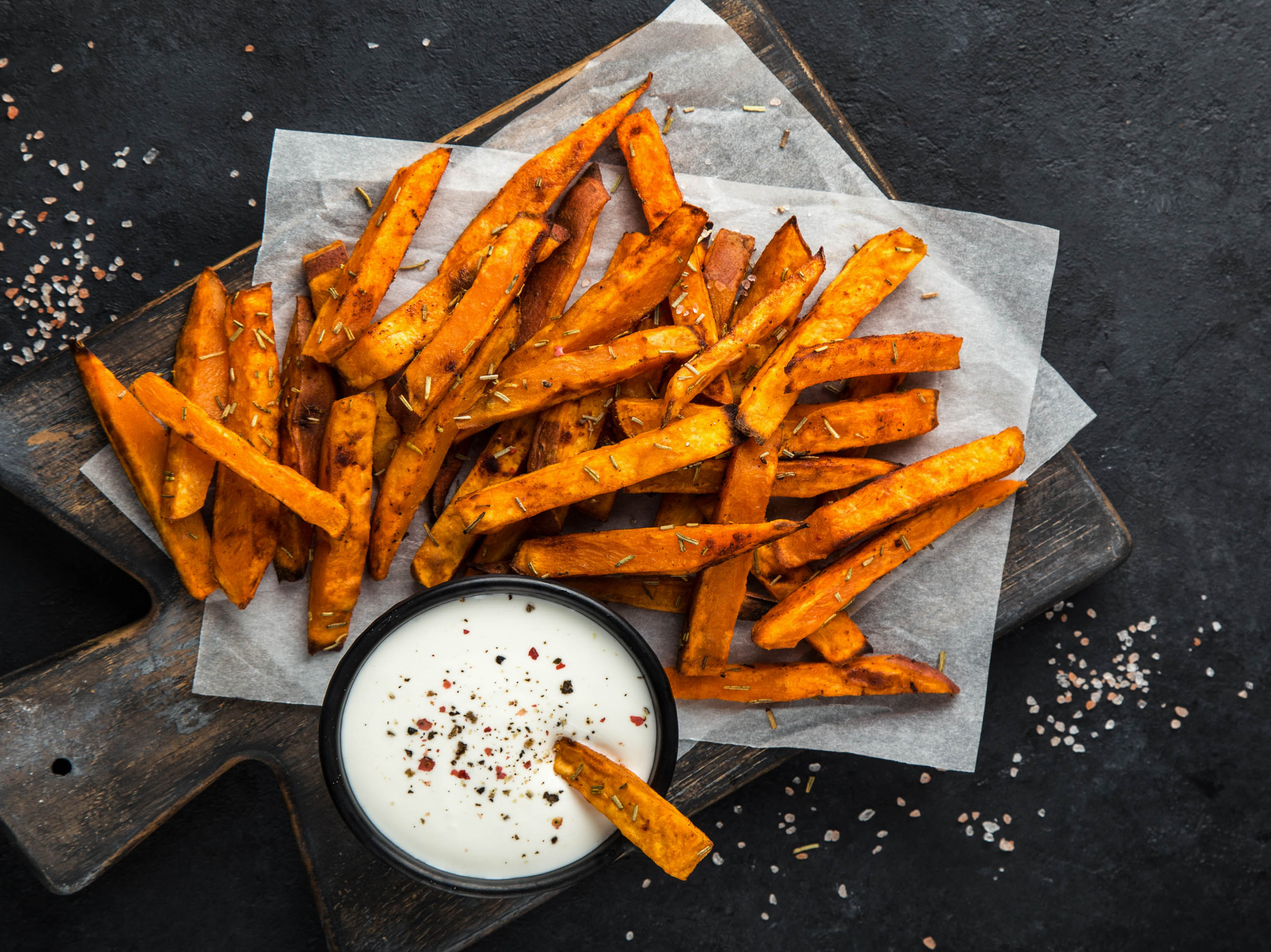 Sweet Potato Fries with Coconut Butter Mayo