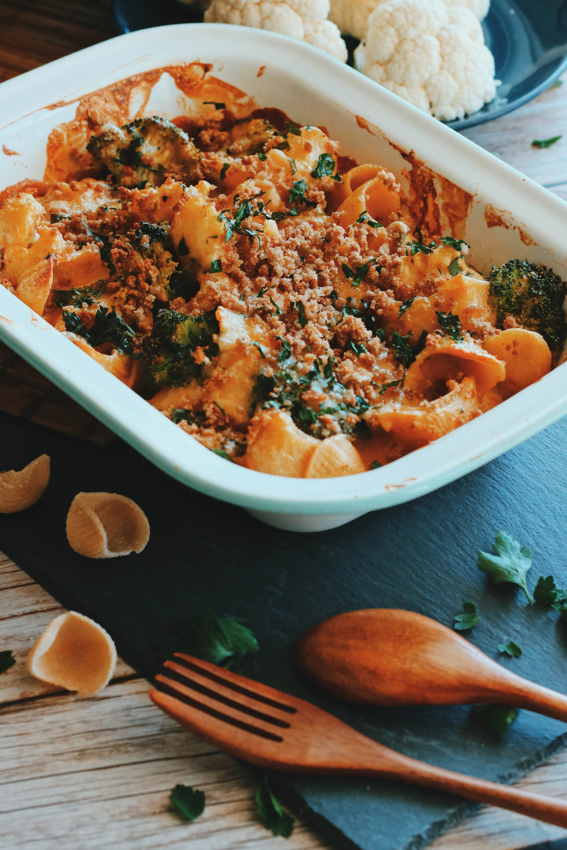 Cauliflower & Broccoli Pasta Bake
