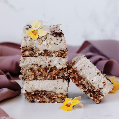 Coffee + Hazelnut Raw Slice