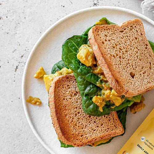 Vegan Curried 'Egg' Sandwich