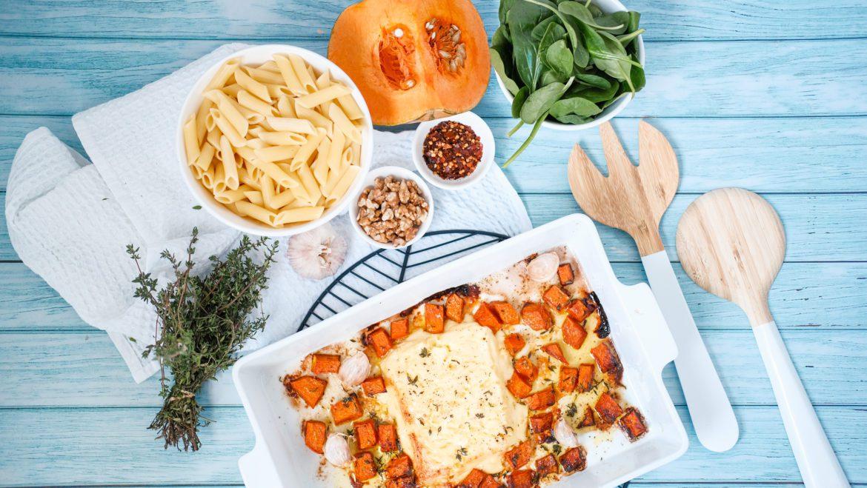 Pumpkin and Feta Pasta