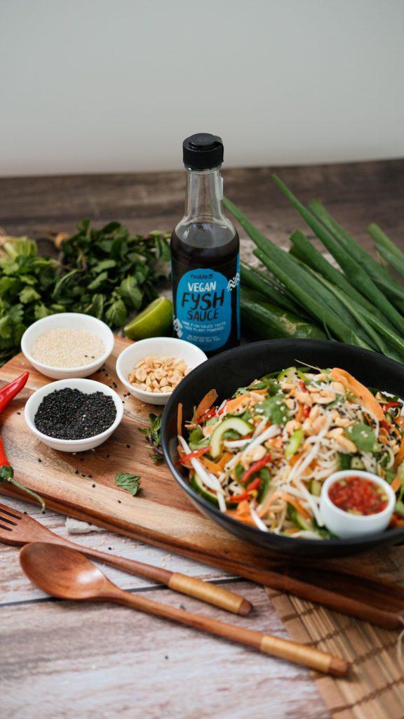 Delicious spring noodle salad