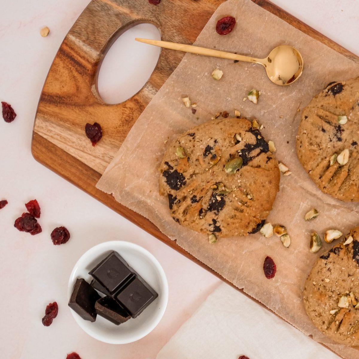Vegan Turkish Delight Biscuits