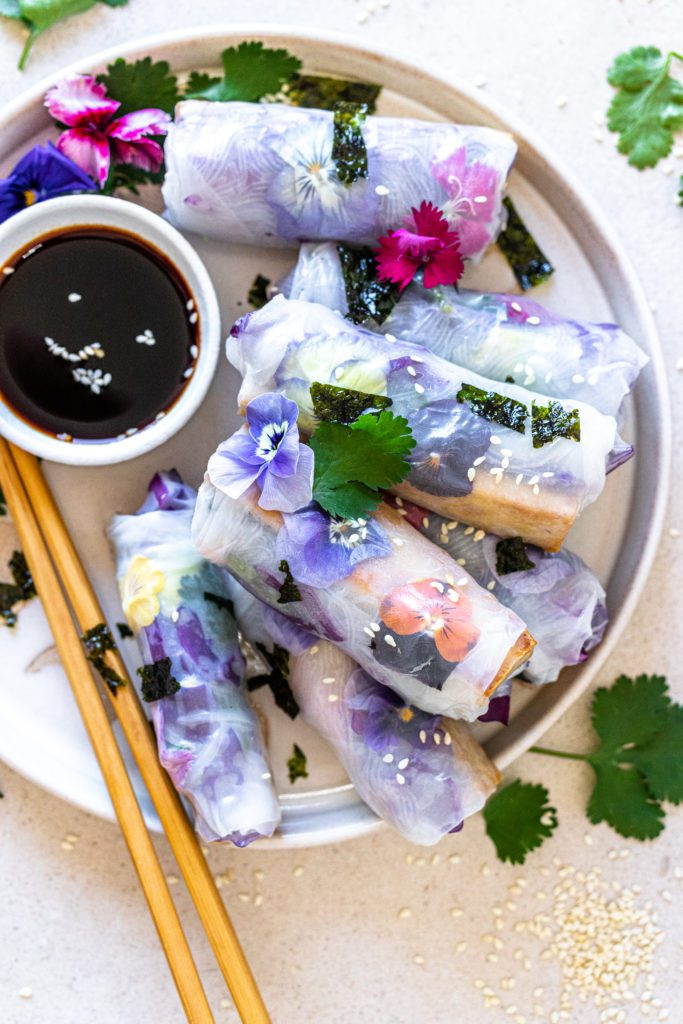 Delicious Smoked Tofu RIce Paper Rolls